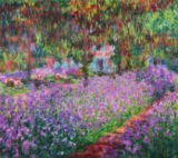 The Artist's Garden at Giverny, 1900 of Claude Monet