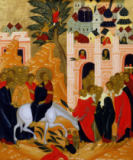 Christ's Entry into Jerusalem, icon von Russian School