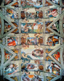 Sistine Chapel ceiling and lunettes, 1508-12 of Michelangelo Buonarroti