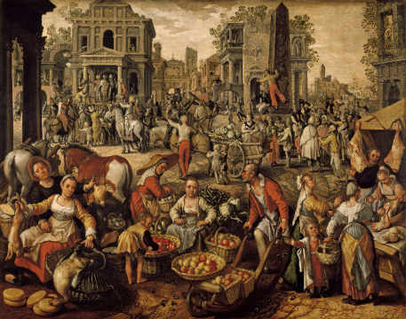 Fine Art Reproduction, individual art card: Joachim Beuckelaer, Ecce homo