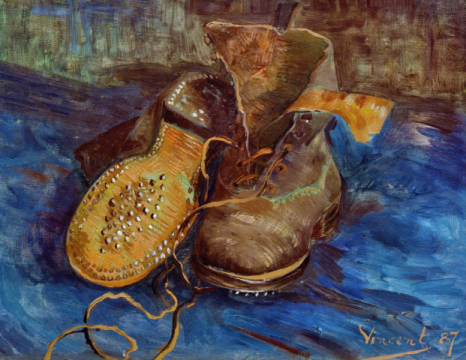 Fine Art Reproduction, individual art card: Vincent van Gogh, Les Souliers