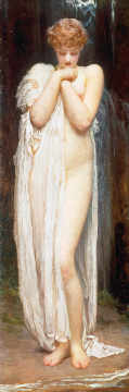 Crenaia (The Nymph of the Dargle) of artist Lord Frederick Leighton as framed image