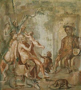 1. Jahrhundert - Childhood of Dionysus / Rom.Wall Paint. - Fine ...