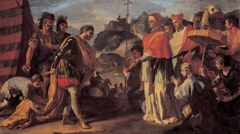 Fine Art Reproduction: Francesco Solimena, Pope Zacharias meets King Rachis during the siege of Perugia