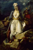 Greece expiring on the Ruins of Missolonghi of Eug�ne Delacroix