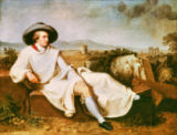 Goethe in the Campagna of Johann Heinrich Wilhelm Tischbein