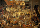 Fight between Carnival and Lent of Pieter Bruegel der �ltere