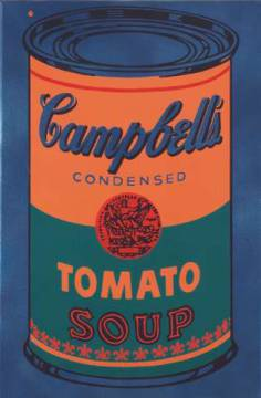 Colored Campbell's Soup Can, 1965 (blue & orange) von Künstler Andy Warhol, Can, Colored, Soup