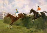 Charles Simpson - Golden Miller und Delaneige beim Grand National 1934